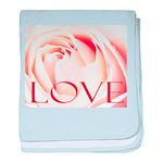 Love Rose baby blanket