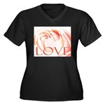 Love Rose Women's Plus Size V-Neck Dark T-Shirt