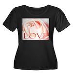 Love Rose Women's Plus Size Scoop Neck Dark T-Shir