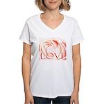 Love Rose Women's V-Neck T-Shirt