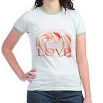 Love Rose Jr. Ringer T-Shirt