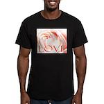 Love Rose Men's Fitted T-Shirt (dark)