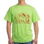 Love Rose Green T-Shirt