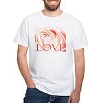 Love Rose White T-Shirt