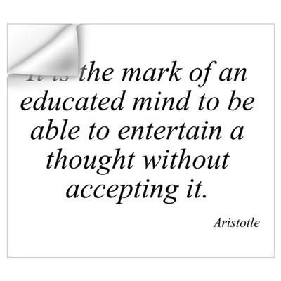 Aristotle quote 46 Wall Art Wall Decal