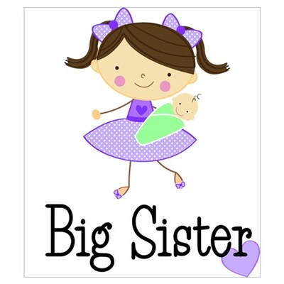 Big Sister Brown Wall Art Canvas Art