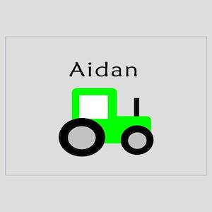 Aidan - Lime Tractor Wall Art