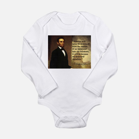 Abe Lincoln Quote Long Sleeve Infant Bodysuit
