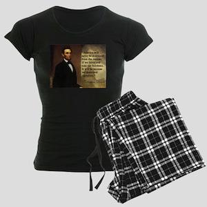 Abe Lincoln Quote Women's Dark Pajamas