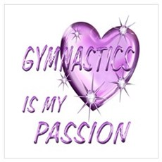 Gymnastics Passion Wall Art Poster