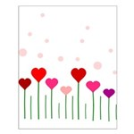Heart Flowers Field Small Poster