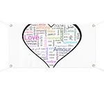 Heart Love in different langu Banner