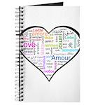 Heart Love in different langu Journal