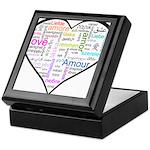 Heart Love in different langu Keepsake Box