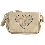 Heart Love in different langu Messenger Bag
