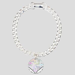 Heart Love in different langu Charm Bracelet, One