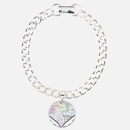 Heart Love in different langu Bracelet