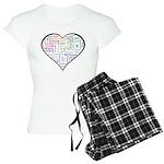 Heart Love in different langu Women's Light Pajama