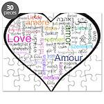Heart Love in different langu Puzzle