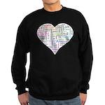 Heart Love in different langu Sweatshirt (dark)