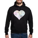 Heart Love in different langu Hoodie (dark)