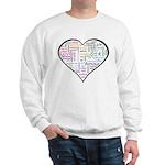 Heart Love in different langu Sweatshirt