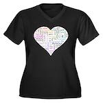 Heart Love in different langu Women's Plus Size V-