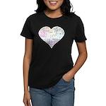 Heart Love in different langu Women's Dark T-Shirt