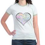 Heart Love in different langu Jr. Ringer T-Shirt