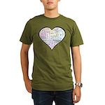 Heart Love in different langu Organic Men's T-Shir
