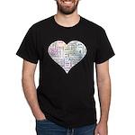 Heart Love in different langu Dark T-Shirt