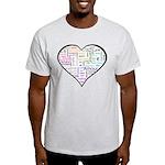 Heart Love in different langu Light T-Shirt