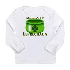 Momma's Lil' Leprechaun Long Sleeve Infant T-Shirt