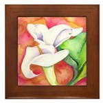 Calla Lilies Framed Tile