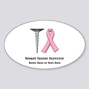 Customizable SCREW BREAST CAN Sticker (Oval)