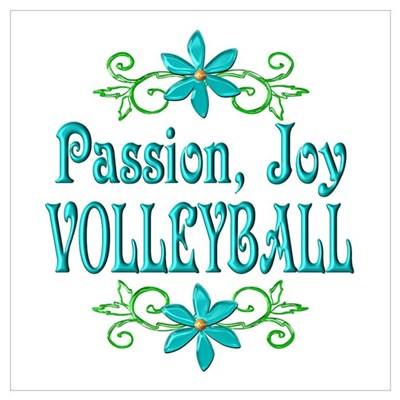 Volleyball Joy Wall Art Framed Print