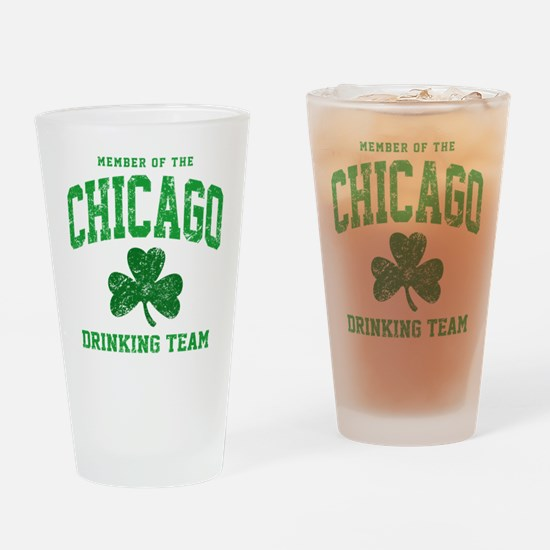 Chicago Drinking Drinking Glass