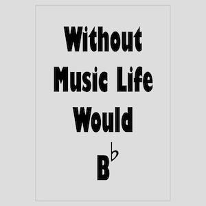 Music B Flat Wall Art