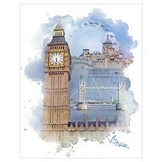 London Wall Art Poster