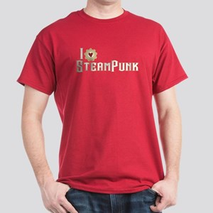 I Love Steampunk Dark T-Shirt