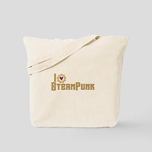 I Love Steampunk Tote Bag