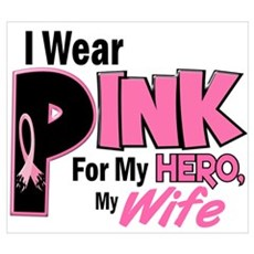 I Wear Pink For My Wife 19 Wall Art Framed Print