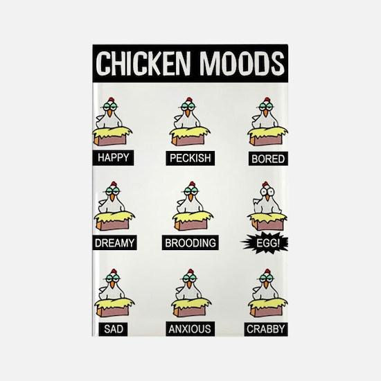 Chicken Moods Rectangle Magnet