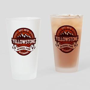 Yellowstone Crimson Drinking Glass