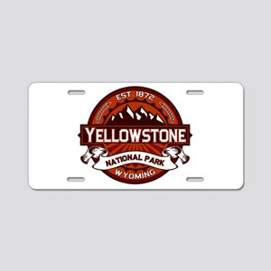 Yellowstone Crimson Aluminum License Plate