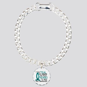 Means World To Me 1 PKD Charm Bracelet, One Charm
