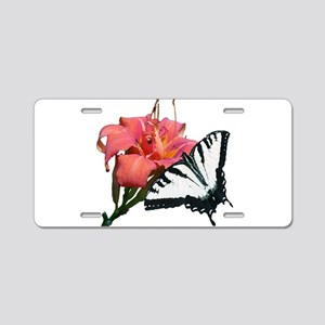Beautiful Butterfly Aluminum License Plate