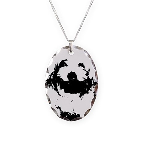 Ozzy the Maltese Necklace Oval Charm