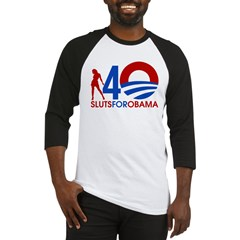 sluts for obama 5 Baseball Jersey
