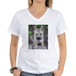 "Cairn Terrier ""Emma"" Women's V-Neck T-Shirt"